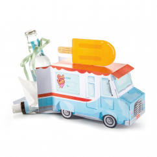 Geschenkbox Lieferauto - Cool Gift Van von Donkey Products. Geschenkverpackung Papp-Auto.