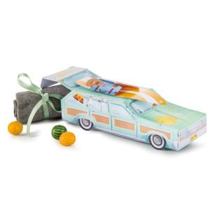 Geschenkbox Auto - GIFT STATION WAGON von Donkey Products. Bedruckte Geschenkverpackung Auto Pappe.