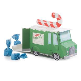 XMAS VAN Geschenkverpackung - Weihnachtsverpackung, Merry Christmas - Donkey - Papp-Auto