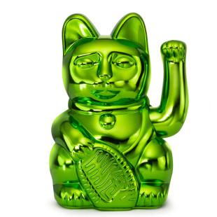 Glücksbringer Winkekatze dunkelgrün. Maneki Neko Glückskatze Donkey Products. Sonderedition XMAS glossy green.