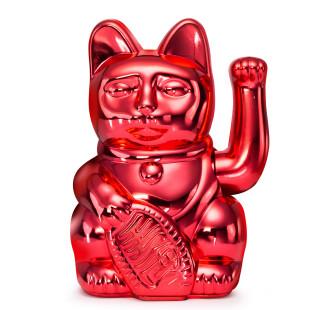 Glücksbringer Winkekatze rot. Maneki Neko Glückskatze Donkey Products. Sonderedition XMAS glossy red.