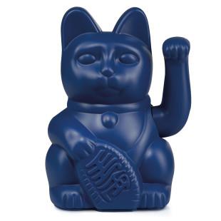 Glücksbringer für Ihr Zuhause: dunkelblaue Winkekatze von Donkey Products. Design Deko Glückskatze darkblue.
