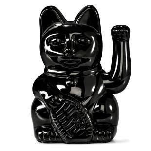 Glücksbringer Winkekatze - Sonderedition glossy schwarz. Maneki Neko Glückskatze von Donkey Products.
