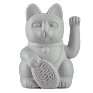 Glücksbringer Winkekatze grau. Maneki Neko Glückskatze von Donkey Products - Glücksgeschenk für viele Anlässe.