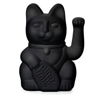Glücksbringer Winkekatze schwarz. Maneki Neko Glückskatze von Donkey Products - Glücksgeschenk für viele Anlässe.