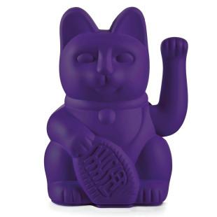 Glücksbringer Winkekatze violett. Maneki Neko Glückskatze lila von Donkey Products. Dekofigur Sonderedition.