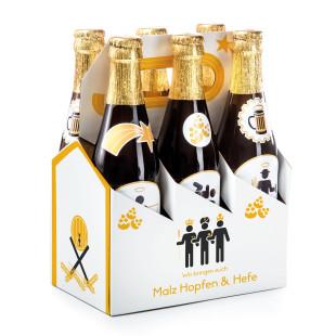 Holy 6 Pack - Bier Krippe Sixpack mit Aufkleber für Bierflaschen - Donkey - im Sixpack