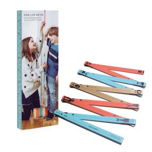 Bunte Kindermesslatte / Meterstab Kids-Life Meter von donkey products.