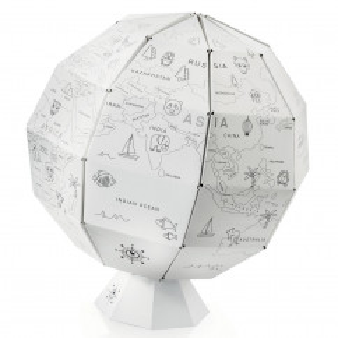 My first Globe, Papier Globus zum Basteln und Bemalen von donkey products.