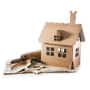 My first Gingerbread House: Dein erstes Lebkuchenhaus aus Pappe zum Basteln und Ausmalen!