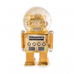 Glitzerkugeln / Schneekugel Roboter gold - Summerglobe The Robot - donkey products