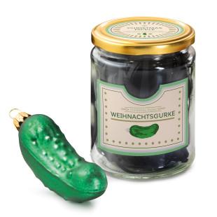 Große Weihnachtsgurke Christmas Pickle im Einmachglas von Donkey - Weihnachstschmuck, Baumschmuck, Christbaumkugel