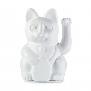 Iconic Cat Winkekatze weiß von Donkey Products. Japanische Glückskatze DIY. Glücksbringer Katze mit Stickerbogen.