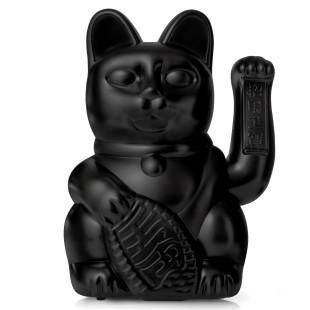 XL Winkekatze / Glückskatze Lucky Cat GIANT 30 cm schwarz