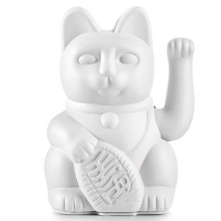XL Winkekatze / Glückskatze Lucky Cat GIANT 30 cm weiß