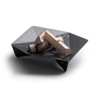 Schwarze Feuerschale TRIPLE 65 cm von höfats. Moderne Feuerstelle mit Grillerweiterungsoption! Design Feuerschale