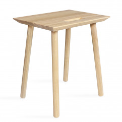 Hocker KNOQDI Eiche von kommod Design - Made in Germany - Holzhocker mit Griffmulde