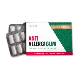 Spaßmedikament für Weihnachten - Anti AllergieGUM bei Weihnachtsbaumallergie vom 1. - 24. Dezember (Kaugummis). Originelles Geschenk für den Adventskalender ... von liebeskummerpillen.