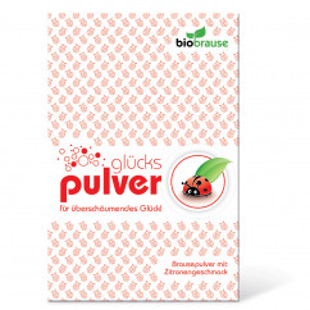 liebeskummerpillen Bio-Brause Glückspulver - Brausepulver mit Kirschgeschmack in netter Verpackung.