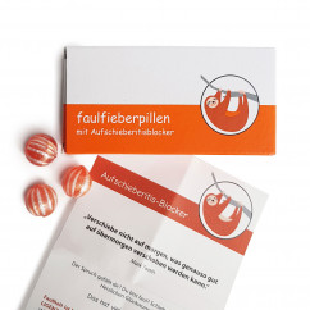 Faulfieberpillen - Spaßmedikament mit lustigem Beipackzettel