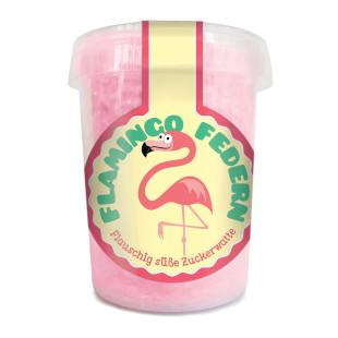 Flamingo Federn - Zuckerwatte in der Dose - liebeskummerpillen