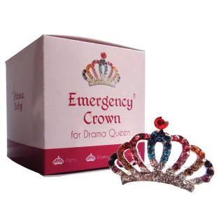 Emergency Krönchen for Drama Queen: buntes, kleines Mini-Strasskrönchen für brilliante Momente.