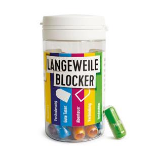 Langeweile Blocker von liebeskummerpillen bei akuter Langeweile: Kapsel öffnen, Zettel entrollen und Anweisung befolgen.