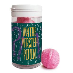 Mathe-Versteh-Pillen mit der einzigartig prickelnden Mathe-Genie-Formel von liebeskummerpillen. Leckere Brausebälle nett verpackt im Kunststoffdöschen.