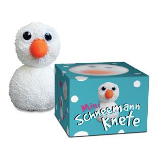 Mini Schneemann Kit im Töpfchen: Schaumknete mit Wackelaugen und Möhrennase, geliefert in einer netten Geschenkschachtel.