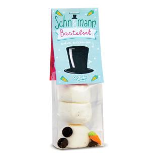 Schneemann Bastelset - Marshmallows - Der Zuckerbäcker