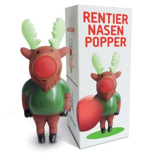 liebeskummerpillen Rentier Nasen Popper - Kunststoff-Rentier inklusive drei roten Schaumstoffbällen.