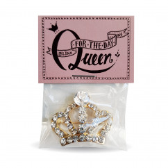 Strass Krönchen Brosche Queen for one Day von liebeskummerpillen.