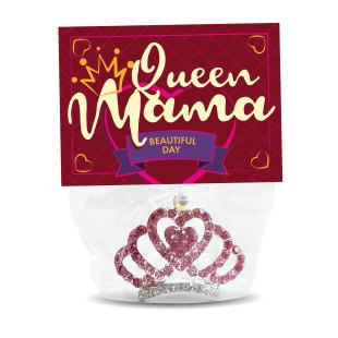 Strasskrönchen mit Haarkamm - Queen Mum - von liebeskummerpillen. Perfekt für den Muttertag oder für Mamas Geburtstag.