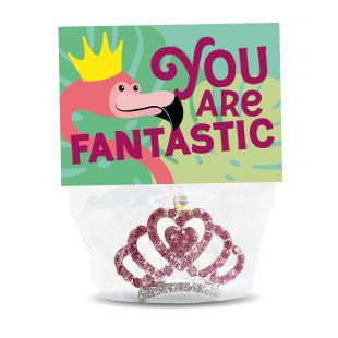 Du bist fantastisch! Buntes Haarkamm Strasskrönchen - You are Fantastic - von liebeskummerpillen!