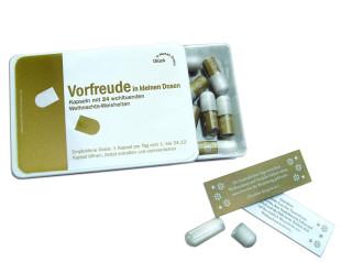 liebeskummerpillen Advent in kleinen Dosen - 24 nette Sprüche in kleiner Kunststoffbox.