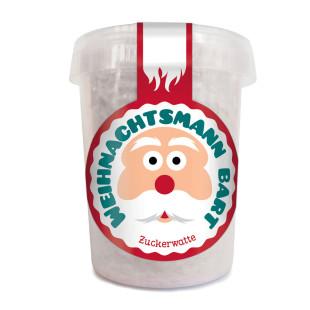 Weihnachtsmann Bart von liebeskummerpillen - Zuckerwatte im Becher.