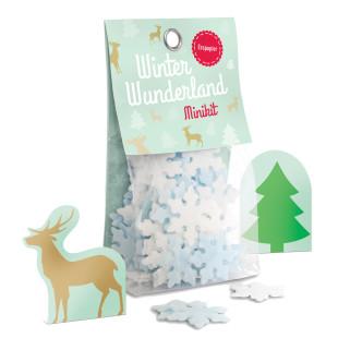 liebeskummerpillen Winter Winderland Minikit: kleine Schneeflocken aus Esspapier in netter Geschenkverpackung.