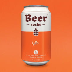 Bier Socken in der Dose von Luckies - Beer Socks - ALE - orange Dose