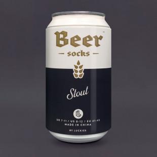 Bier Socken in der Dose von Luckies - Beer Socks - Stout - Dose
