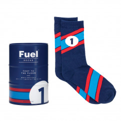 FUEL Socks - Socken im Benzinfass, Gr. 41-45