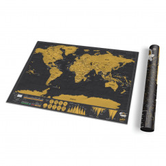 Deluxe Scratch Map Rubbel Weltkarte von luckies in schwarz-gold.