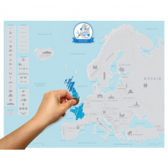Scratch Map Rubbelkarte Europa