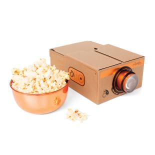 Luckies Smartphone Projektor 2.0 Kupfer Editon. Mini-Projektor fürs Handy im Retro-Look.