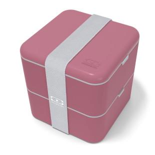 Die rote Lunchbox MB SQUARE Bento Box von monbento sorgt für Genuss auf 2 Etagen! Design Lunchbox MB SQUARE blush (Beeren rot).