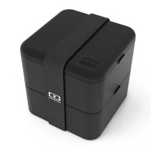 MB SQUARE Lunchbox schwarz von monbento. Große Bento Lunchbox - zweistöckig - BPA-frei ... black. Lunchdose, ...