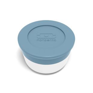 Behälter für Saucen und Dips. Saucenbehälter MB TEMPLE M von monbento. Blaues Saucendöschen / Saucentöpfchen 28 ml.