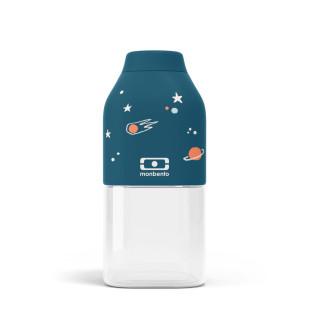 Trinkflasche 0,33 l MB POSITIVE S. Kindertrinkflasche Weltraum 330 ml- Kunststoff Trinkflasche blau: leicht - auslaufsicher - BPA-frei ...