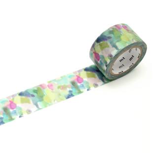 Dekoratives mt masking tape. Washi Tape Rothesay mit abstrakter Aquarellmalerei. Original mt masking tape aus Reispapier