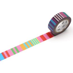 mt masking tape / Washi Tape ARTIST by Kapitza Candy Stripe. Gestreiftes Deko-Klebeband aus Reispapier - KAMOI Japan.