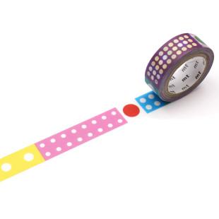 mt masking tape / Washi Tape ARTIST by Kapitza Polka Dot Ice. Deko-Klebeband aus Reispapier - KAMOI Japan.